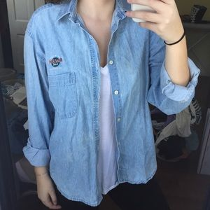 Hard Rock Cafe Denim Button Down